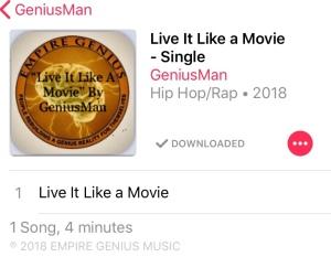 Live it like a movie artwork cover