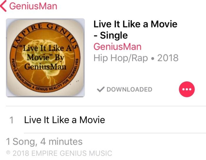 """Live It Like A Movie"" By GeniusMan"