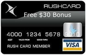 RushCard Free $30 Sign Up