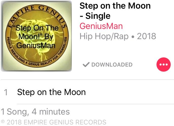 """Step On The Moon"" By GeniusMan @AppleMusic"