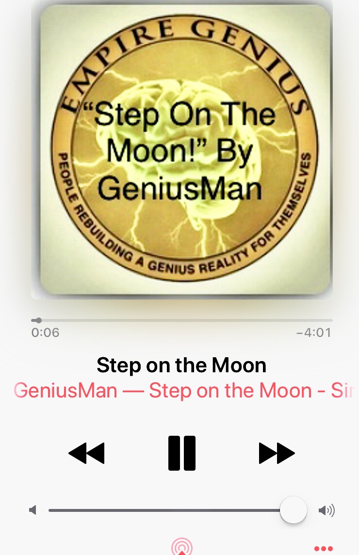 "Listen Now @AppleMusic ""Step On The Moon"" By GeniusMan"