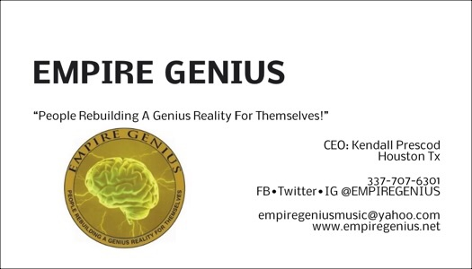 @EMPIREGENIUS CEO #KendallPrescod BusinessCard Contact