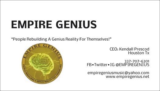 @EMPIREGENIUS CEO #KendallPrescod BusinessCard Contact