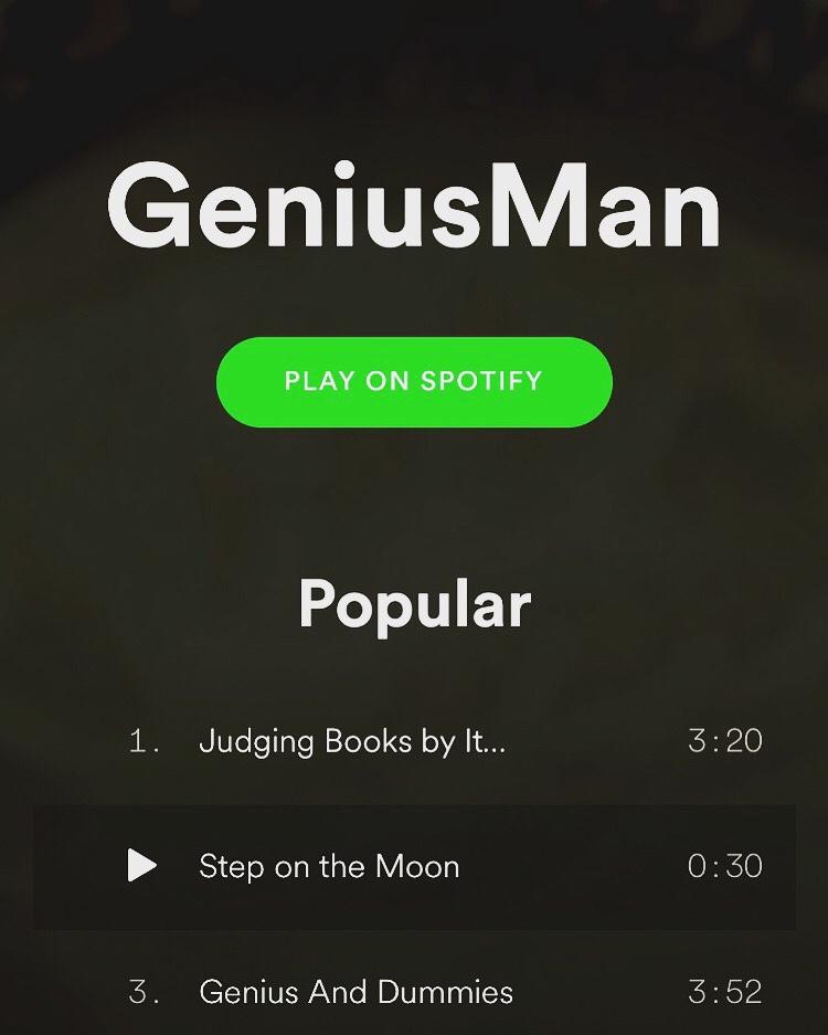 @Spotify #NowStreaming GeniusMan