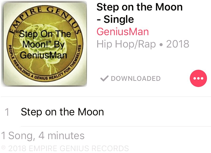Step On The Moon By GeniusMan @iTunes