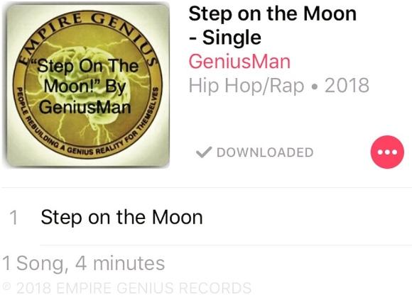 #StepOnTheMoon By GeniusMan @iTunes etc