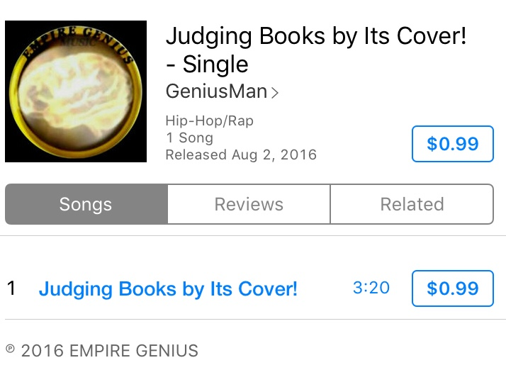 """""""Judging Books By It's Cover"""" @iTunes"""