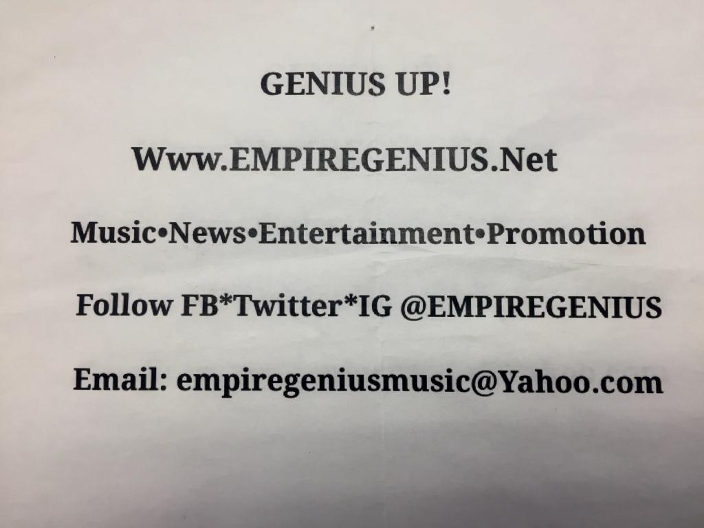 #GeniusUpDailyNews #KendallPrescod @empiregenius