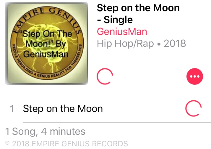"#NowStreaming ""Step On The Moon"" By GeniusMan @AppleMusic"