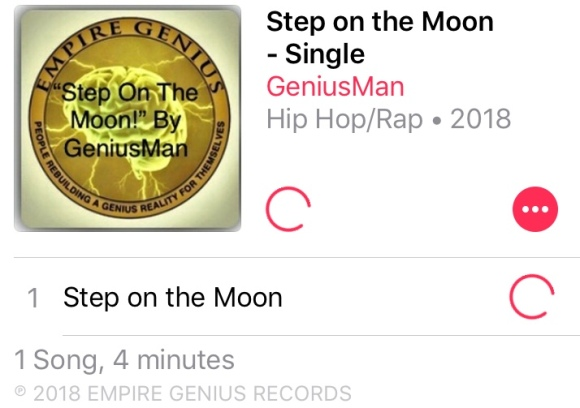 """#NowStreaming """"Step On The Moon"""" By GeniusMan @AppleMusic"""