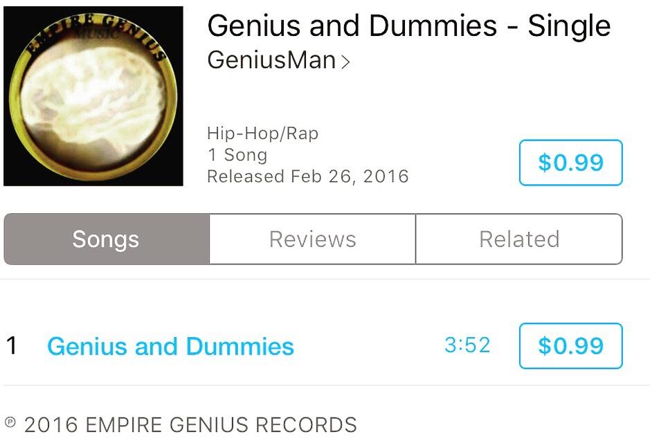 Genius And Dummies By GeniusMan @iTunes