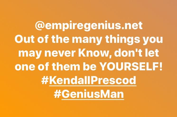 #KendallPrescod #GeniusMan #GeniusUp @empiregenius