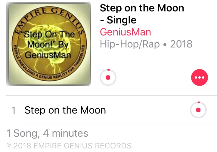 """Step On The Moon"" By GeniusMan @AppleMusic"