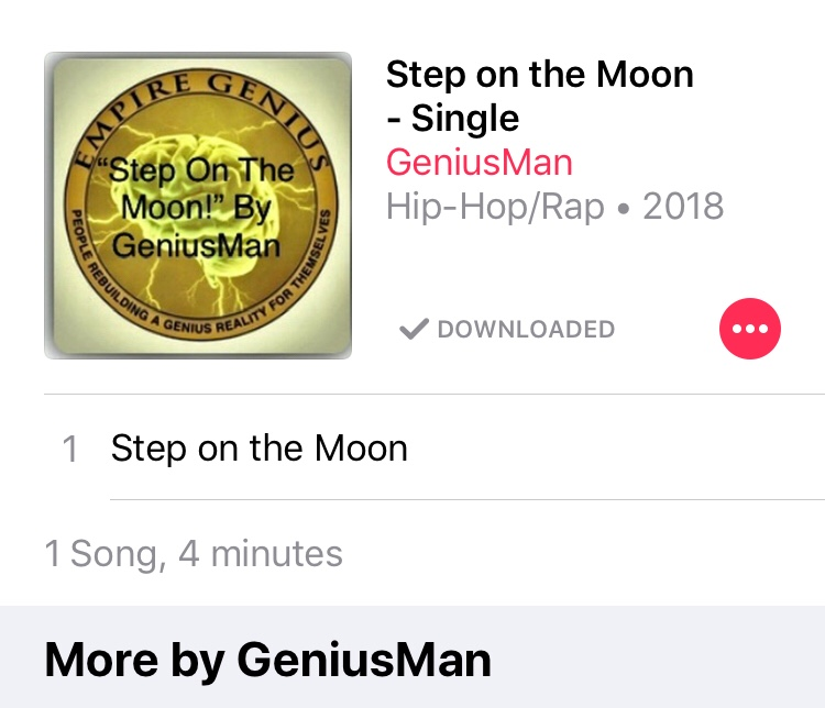 Step On The Moon By GeniusMan @AppleMusic