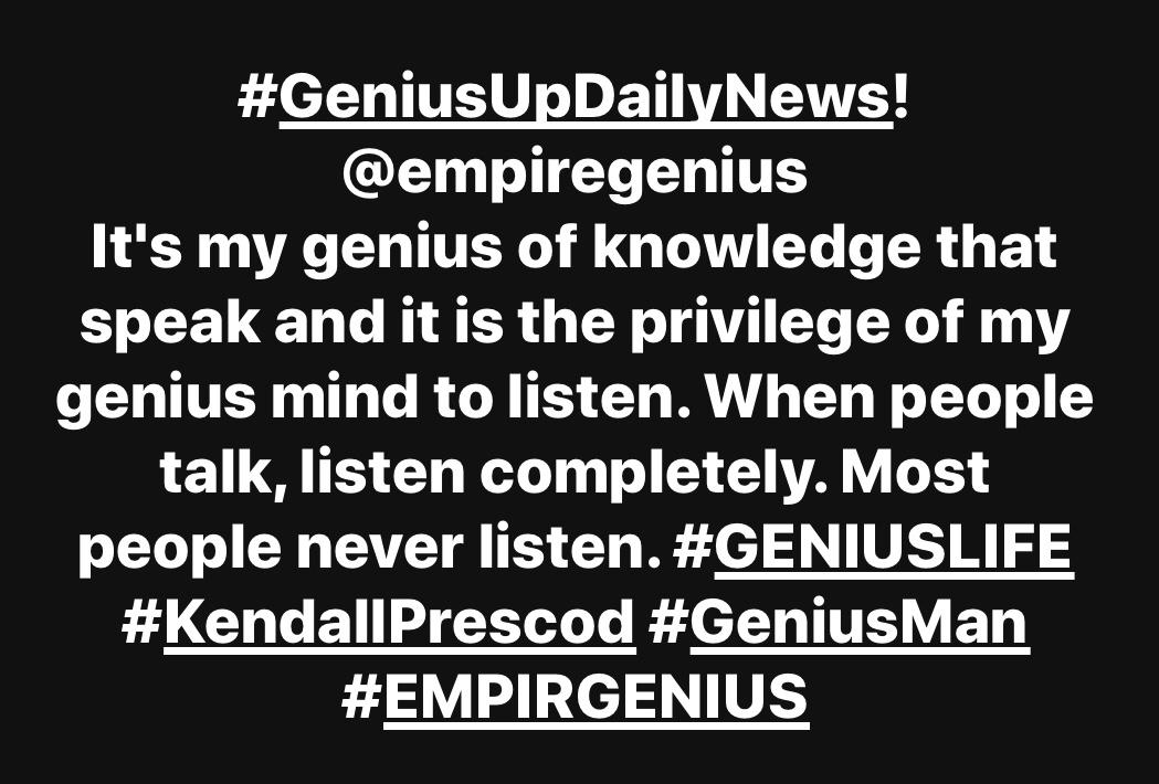 #KendallPrescod #GeniusUp! #EMPIREGENIUS